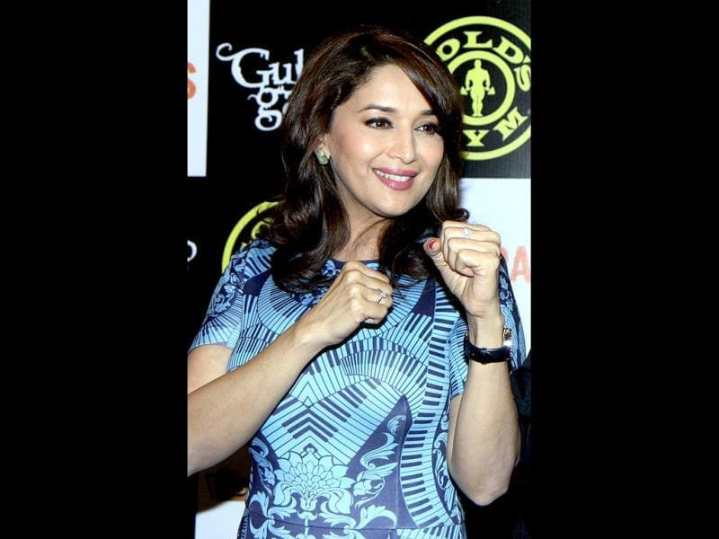 Madhuri Dixit Nene is all set to go guns as her Gulaab Gang is slated for March release. Browse through. (AFP Photo)