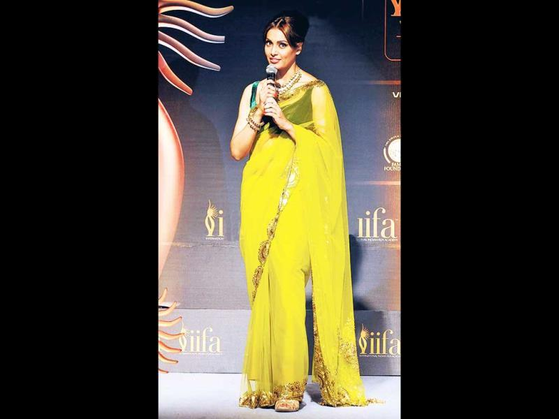 Yellow shine: Bipasha Basu