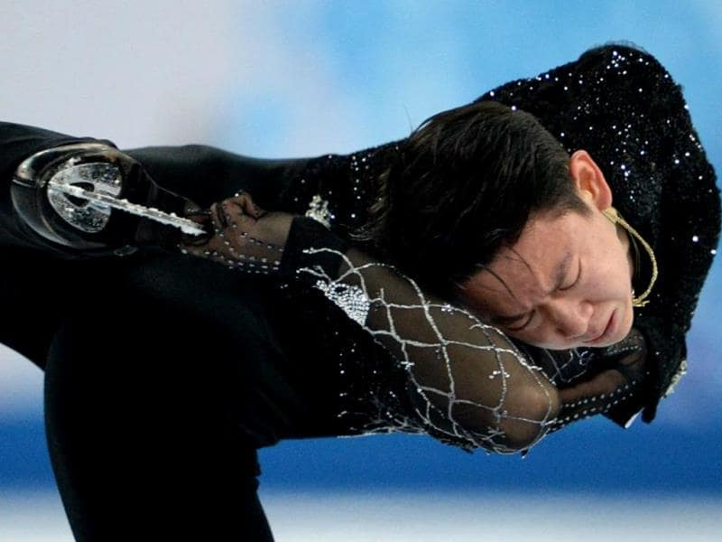 Kazakhstan's Denis Ten performs during the Men's Figure Skating Short Program at the Iceberg Skating Palace during the Sochi Winter Olympics. AFP PHOTO