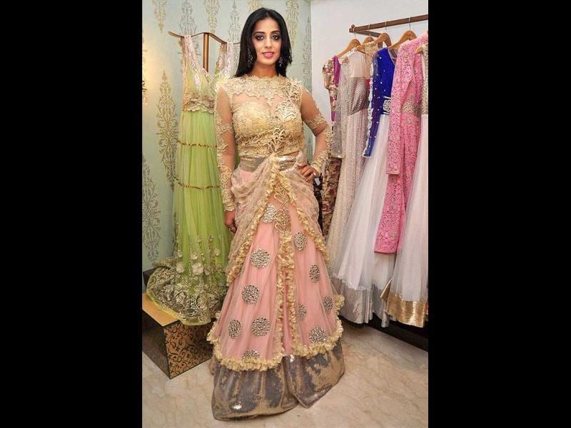 Mahie Gill at designer's Amy Billimoria show for her film