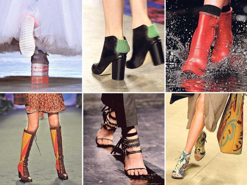 The runways of the recently-concluded fashion weeks of New York and London were like a visual chant for shoe devotees. Among the lust-worthy shoe trends for the coming seasons, edgy and unconventional footwear is what stood out.