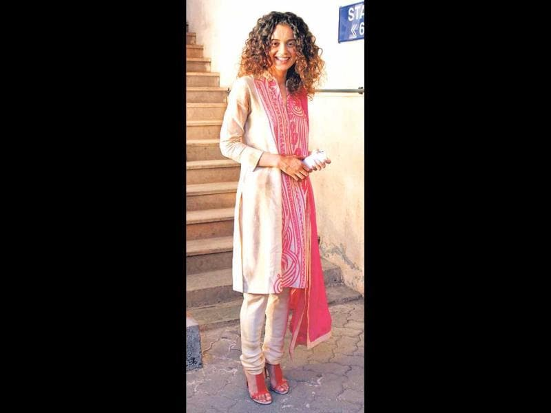 Kangana Ranaut dressed in Indian attire.