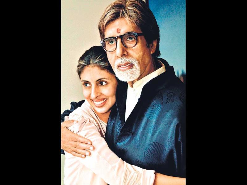 The photograph of Amitabh Bachchan with daughter Shweta Nanda which features in the book Supertraits of Superstars.