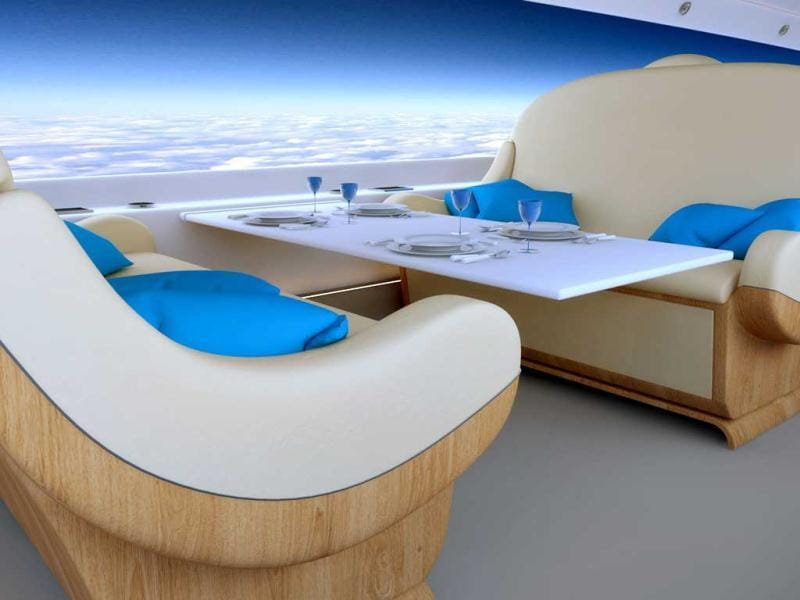 Take a look at what the future of luxury air travel may look like, with renderings of the supersonic jet S-512 by Spike Aerospace. One of the most interesting features of the S-512 would be virtual windows.
