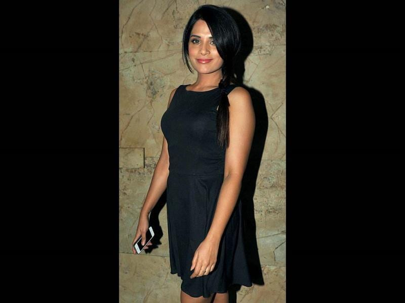 Richa Chadda looked graceful in black.