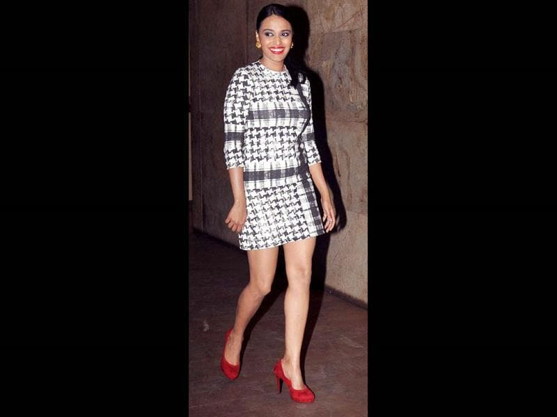 Bollywood actress Swara Bhaskar attends a special screening for Queen. (AFP)