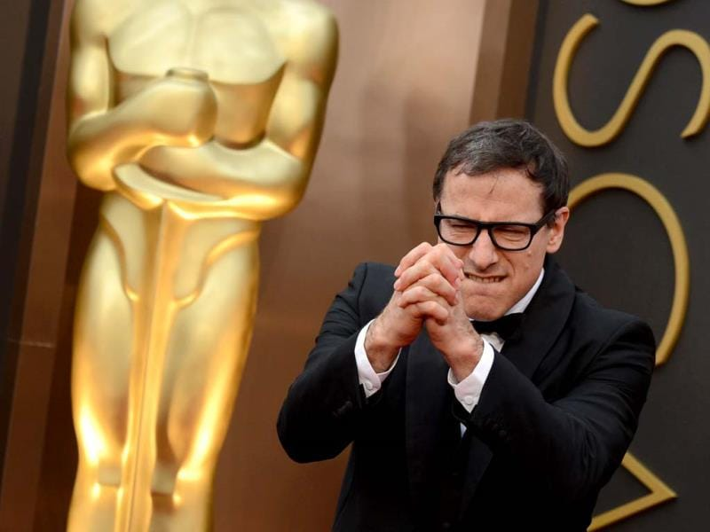David O. Russell arrives at the Oscars on Sunday, March 2, 2014, at the Dolby Theatre in Los Angeles. (AP Photo)
