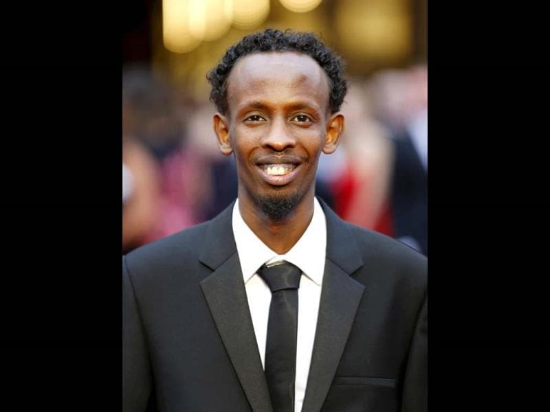 Barkhad Abdi, best supporting actor nominee for his role in Captain Phillips, arrives at the 86th Academy Awards in Hollywood, California March 2, 2014.  (Reuters Photo)