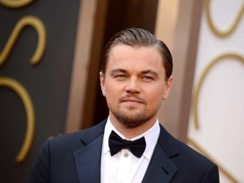 Leonardo DiCaprio arrives at the Oscars on Sunday, March 2, 2014, at the Dolby Theatre in Los Angeles. (AP Photo)