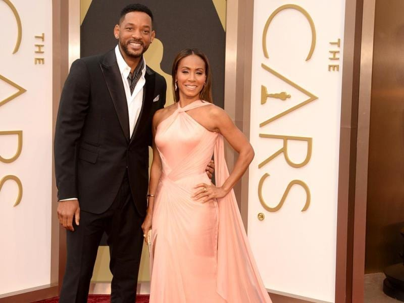 Actors Will Smith and Jada Pinkett Smith at the Oscars. (AFP Photo)
