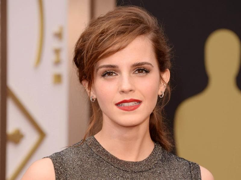 Actress Emma Watson attends the Oscars 201. (AFP Photo)