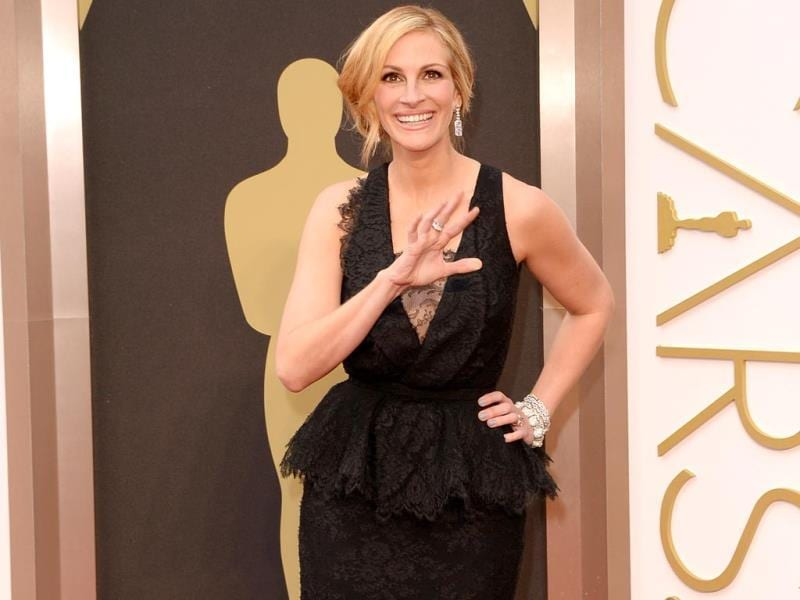 Actress Julia Roberts attends Oscars 2014. (AFP Photo)