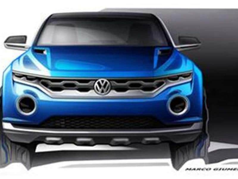 VW reveals T-Roc concept sketches