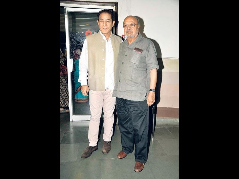 Actor Dalip Tahil and film-maker Shyam Benegal at the promotion of Samvidhaan.