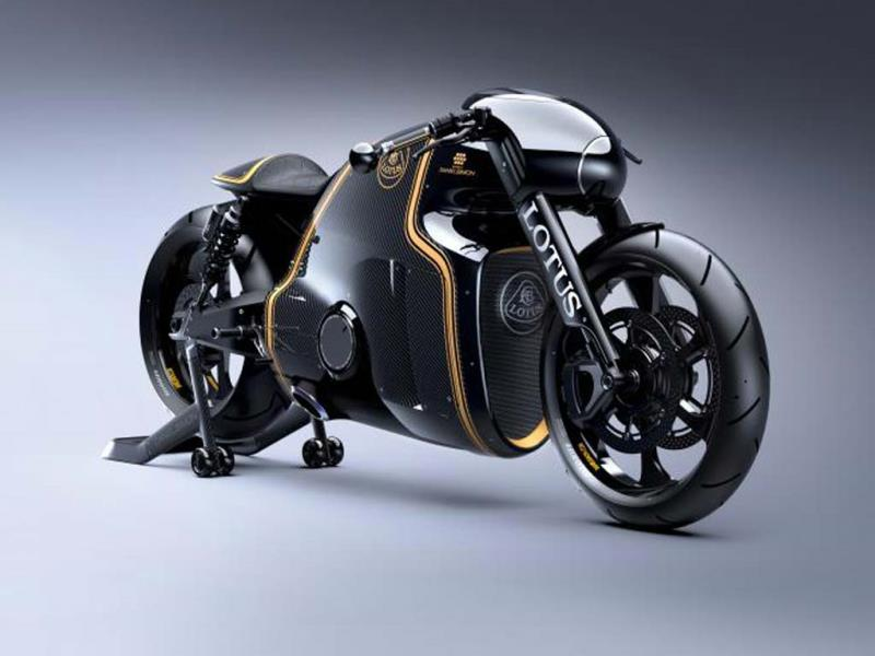 The bike is built from steel, titanium and carbon fiber. Photo:AFP