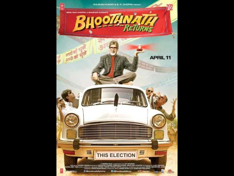 In Bhoothnath Returns, Amitabh Bachchan, the 'aam bhoot' fights election against corrupt politician Boman Irani.