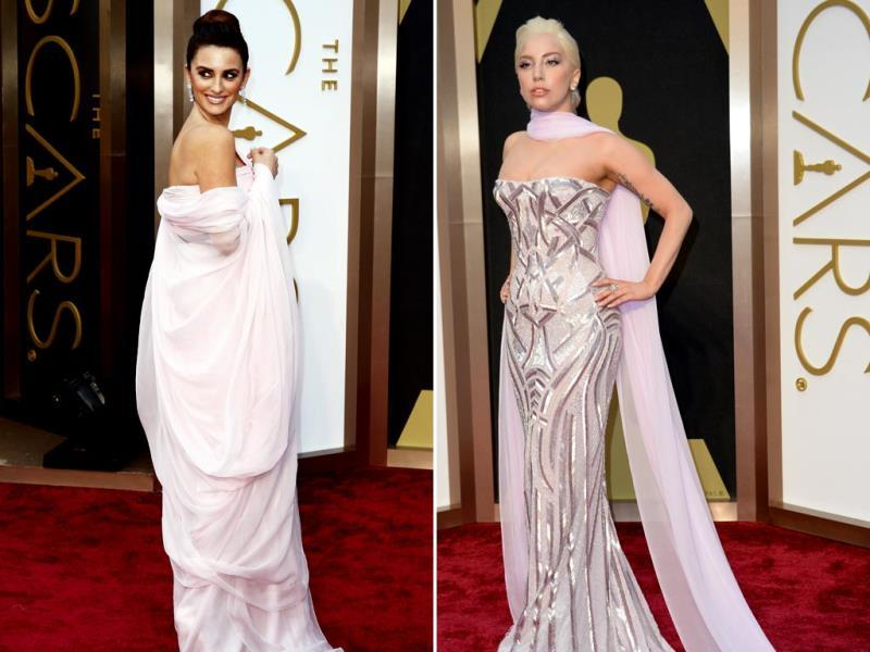 Penelope Cruz failed to impress in her pale pink Giambattista Valli gown. Lady Gaga looked very different, simple, but smashing in a strapless metallic gown. (Reuters)