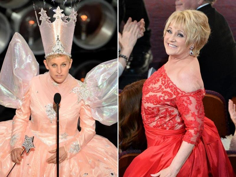 We can't decide what's more shocking: Ellen DeGeneres dressed as Glinda the Good Witch or Lorna Luft, American actress and singer, also the daughter of singer and actress Judy Garland, star of musical films like The Wizard of Oz, who went all red and looked rather puffed, to say the least. (AFP)