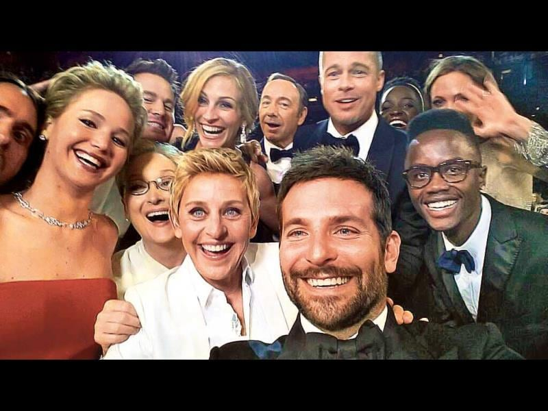 The selfie by Oscars 2014 host Ellen Degeneres that set a record for being the most retweeted tweet of all-time.
