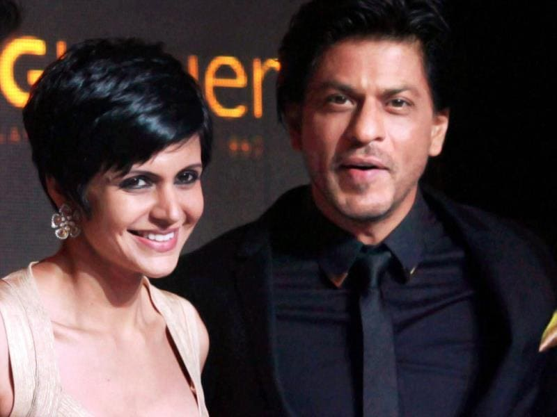 Shah Rukh Khan with actor Mandira Bedi during the event. (PTI Photo)