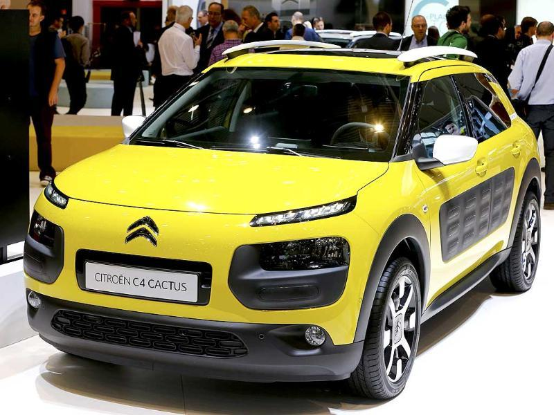 The Citroen C4 Cactus is pictured during the press day of the Geneva Motor Show. (Reuters Photo)
