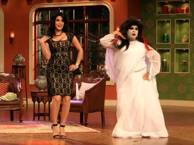 When Sunny Leone and Ekta Kapoor appeared on Comedy Nights with Kapil to promote Ragini MMS 2, some paranormal element had to be present. Don't know about you but that horrendous makeup scared us silly.