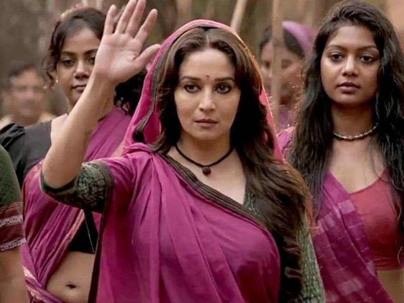 The Dhak Dhak girl goes fierce with Gulaab Gang. Goddess Kali in the making?