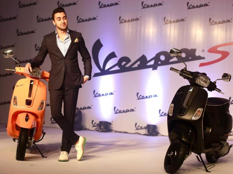 Imran Khan at the launch of Vespa S scooters in Mumbai (March 5). (AP Photo)