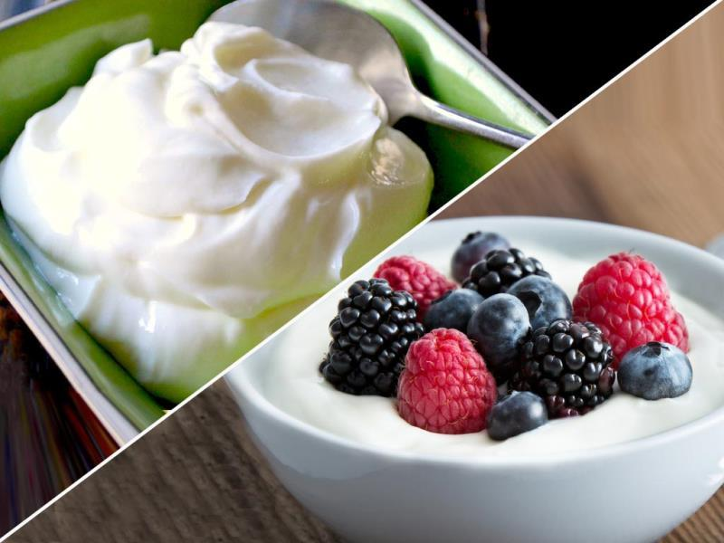 Greek yogurt: This tangy, creamy yogurt is loaded with calcium and boasts plenty of protein—nearly twice as much as regular yogurt—to keep you feeling full throughout the morning. Your best bet: Choose a plain, nonfat variety.