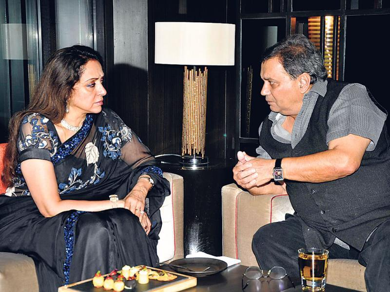 Hema Malini in conversation with Subhash Ghai.