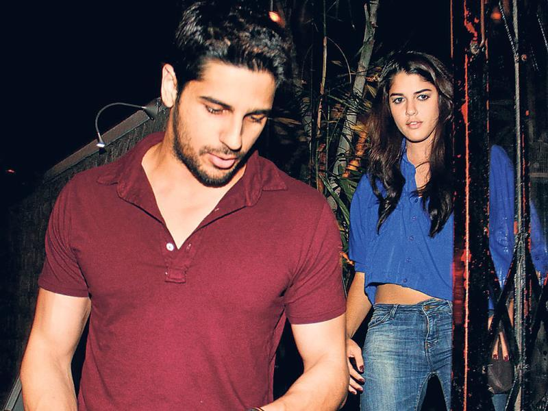 Sidharth Malhotra was also seen at a Bandra nightclub with Brazilian model Izabelle Leite.