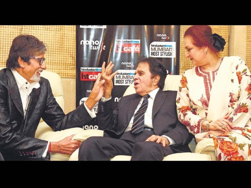 From Bollywood's most stylish actors and directors, to singers, TV stars, entrepreneurs and athletes, on Saturday (March 8) evening, we managed to get some of the hottest people in the city for the Hindustan Times Mumbai's Most Stylish 2014 event. Amitabh Bachchan presented the Mumbai's most stylish timeless couple award to Dilip Kumar-Saira Banu at their residence.