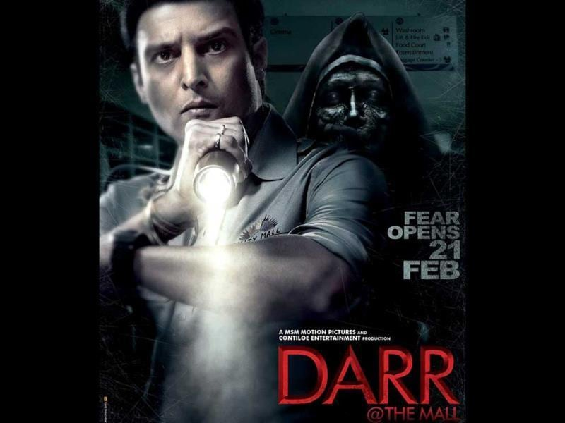 The typical ghost: In Darr@ The Mall, Jimmy Sheirgill plays a security guard of a mall, haunted by ghosts.