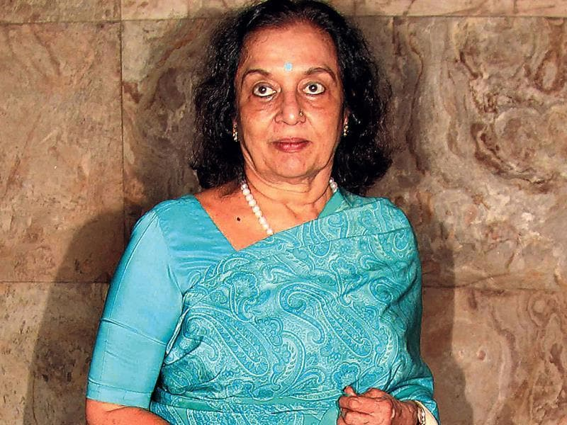 Asha Parekh at a movie screening.