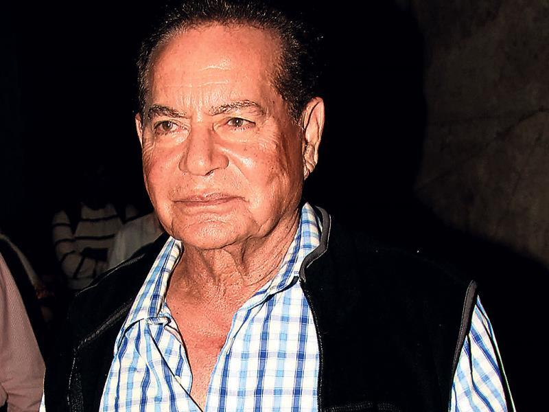 Salman Khan's father Salim Khan attends the movie screening where he was also accompanied by Arbaaz.