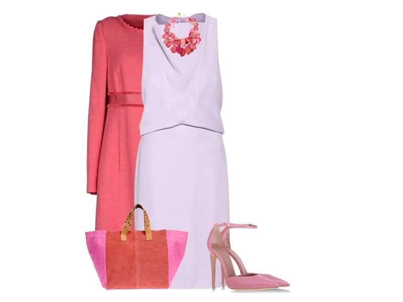 CORAL AND LILAC: Balenciaga dress, Philosophy di A.F. coat, Le Silla shoes, Borsetteria handbag, Nest necklace.(© lipservicebymel/Polyvore |Special uses: Top Trend: pastel dress/Polyvore)
