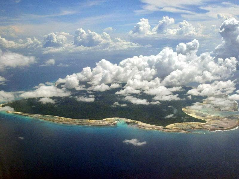 In this file photo, clouds hang over the North Sentinel Island, in the Andaman and Nicobar Islands. (AP Photo/Gautam Singh, File)