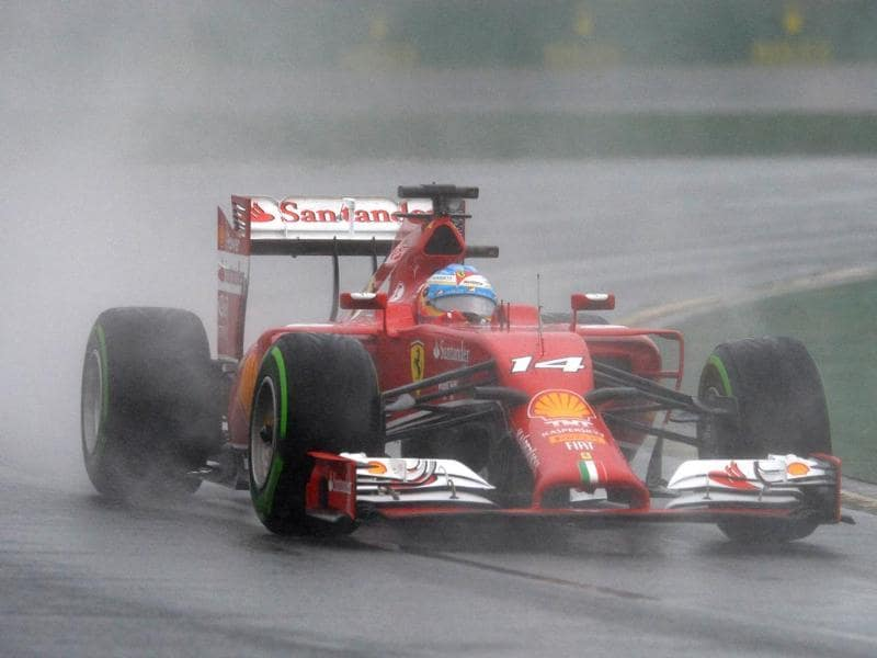 Ferrari driver Fernando Alonso of Spain races during a qualifying session of the Formula One Australian Grand Prix in Melbourne. (AFP Photo)