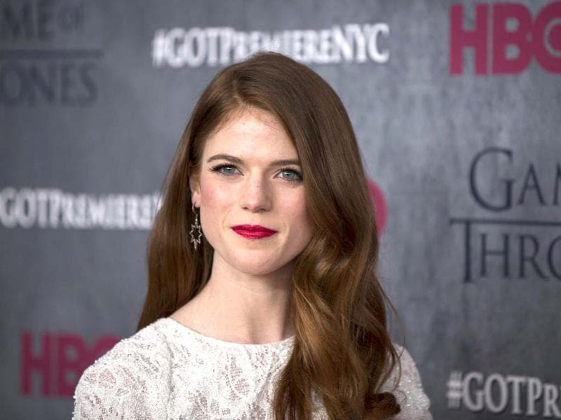 Rose Leslie joins the other cast members of Game of Thrones at New York for the premiere of HBO series Game of Thrones.