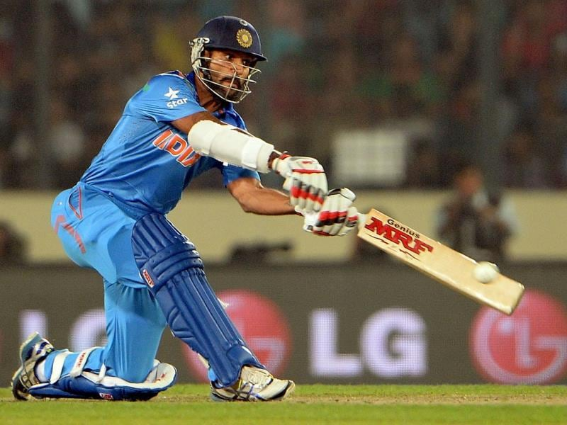 Shikhar Dhawan has been in terrible form for India over the last few months. (AFP Photo)