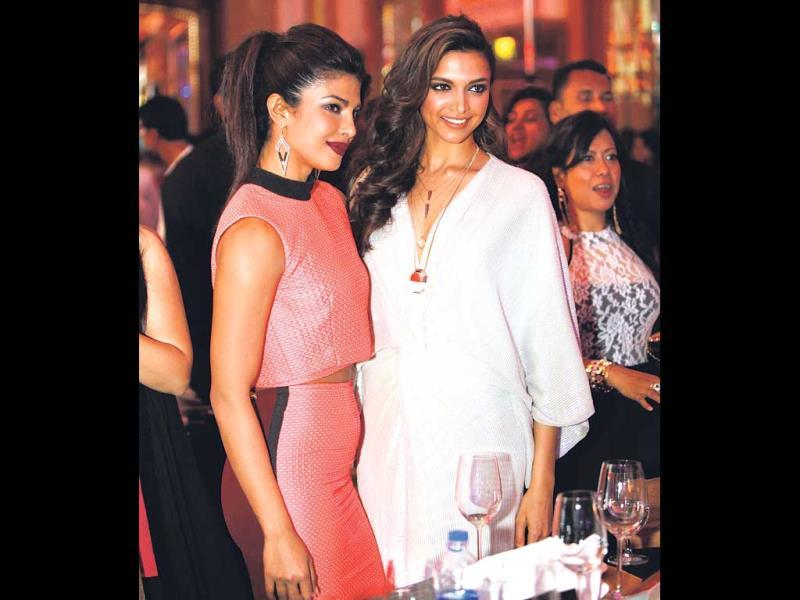 From praising each other's film roles to offering fashion advice, Bollywood's leading ladies prove that actresses can be buddies too. (Text by Jigar Shah)Deepika Padukone and Priyanka Chopra: Even though both the actresses are currently vying for the top spot in Bollywood, there is no bad blood between the two. At the Mumbai's Most Stylish awards night, the two greeted each other warmly on the red carpet and were spotted chatting and laughing away. The two are so secure with their friendship that they even appeared on film-maker Karan Johar's chat show together.