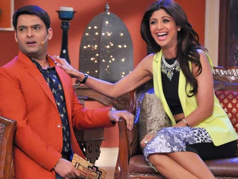 Shilpa Shetty shares some fun-filled moments with Kapil Sharma on his TV show Comedy Nights. Shilpa visited the sets to promote her Dhishkiyaoon.