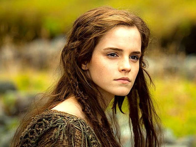 Emma Watson stars as Ila, the wife of Noah's eldest son, Shem, who is portrayed by Douglas Booth.
