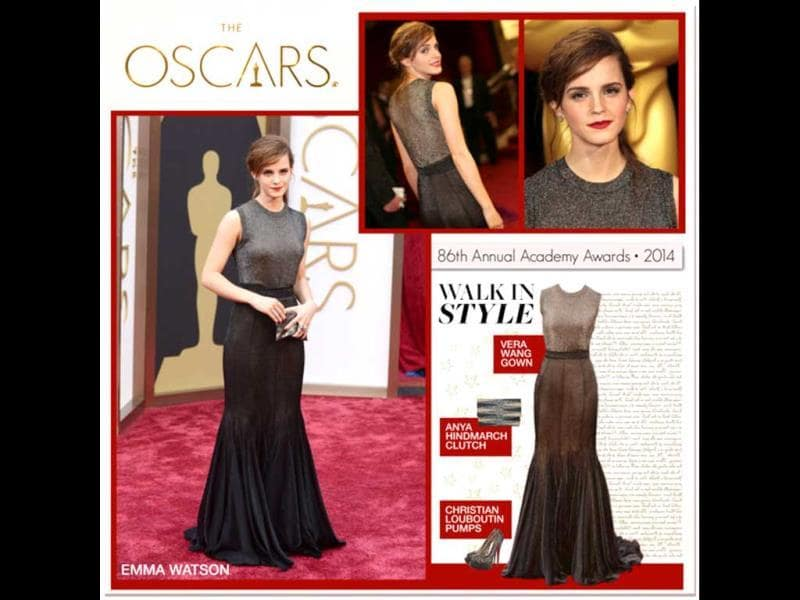 Starring in biblical epic Noah, out in theaters on March 28, Emma Watson is the one to watch at gala events for her chic yet original take on formal dressing, as voted by Polyvore. First look being Glamour in Gray: Vera Wang gown, Anya Hindmarch clutch, Christian Louboutin shoes. (AFP)