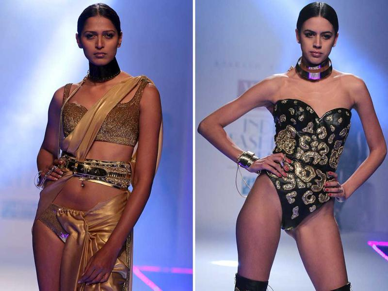 Models at the Raakesh Agarwal show of Wills Lifestyle India Fashion Week 2014. (HT Photo/ Rajesh Kashyap)