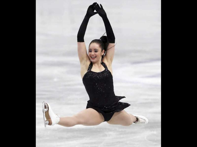 Kaetlyn Osmond of Canada performs during women's short program of the World Figure Skating Championships (AP Photo)