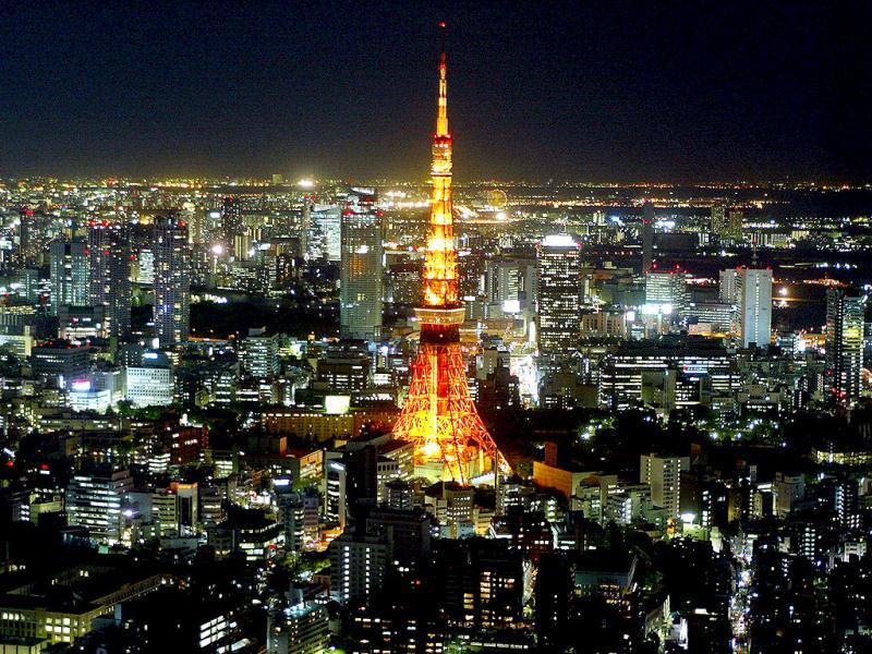 Japan: Illumination of the Tokyo Tower, which was modeled on the Eiffel Tower but painted in orange and white to make it more visible to aircraft. (AFP)