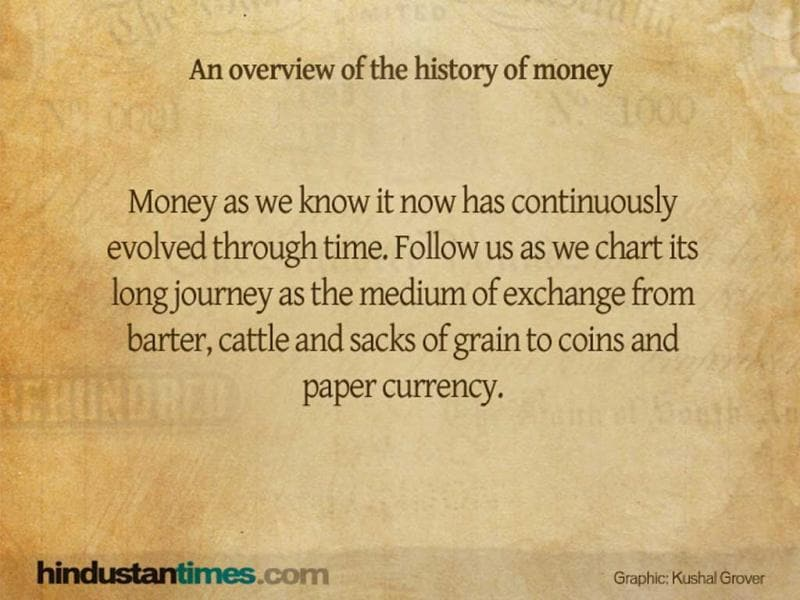 Charting the long journey of money as the medium of exchange.