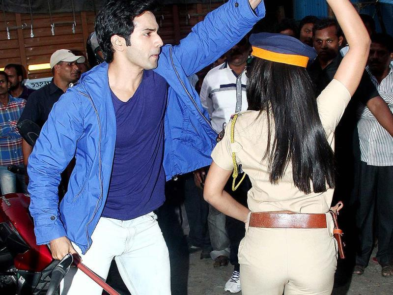 Varun seems to have a way with women. Here, he takes the officer for a spin.