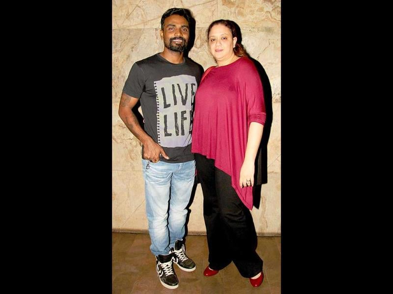 Bollywood's favourite choreographer Remo D'Souza attended the screening with his wife Lizelle D'Souza.